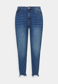 Missguided Plus - RIOT DISTRESSED  - Relaxed fit jeans - blue - 0
