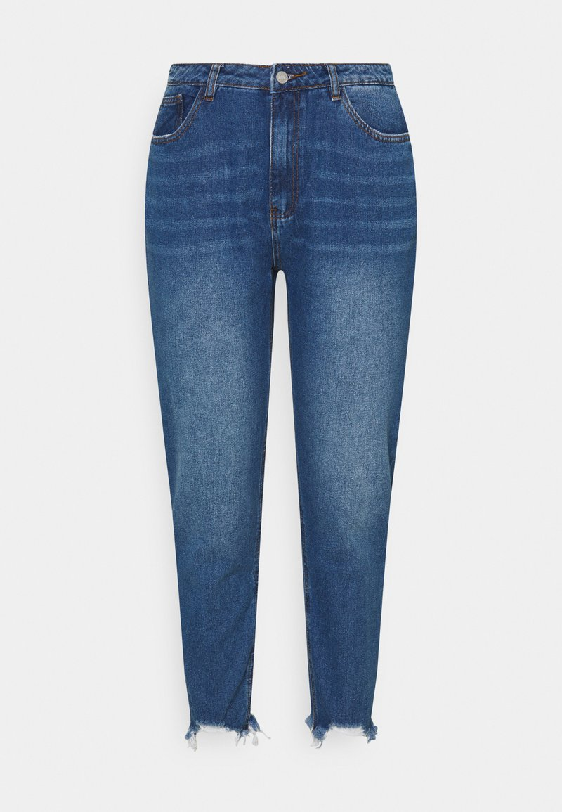 Missguided Plus - RIOT DISTRESSED  - Relaxed fit jeans - blue