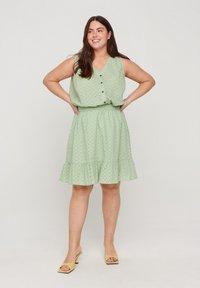 Zizzi - A-line skirt - silt green - 1