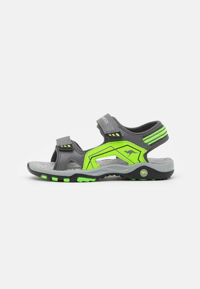 K-EVEREST - Sandales de randonnée - steel grey/neon lime