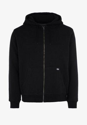 KINGSLEY - Zip-up hoodie - black