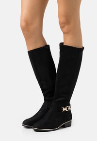 New Look Wide Fit - WIDE FIT AMOUR STRETCH BACK METAL  - Boots - black - 0