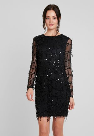 FRINGE BODYCON DRESS - Robe de soirée - black