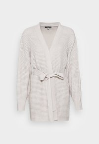 Missguided - RECYCLED WAFFLE STITCH BELTED  - Cardigan - grey - 3