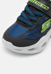 Skechers - VORTEX FLASH - Trainers - black/blue/lime - 5