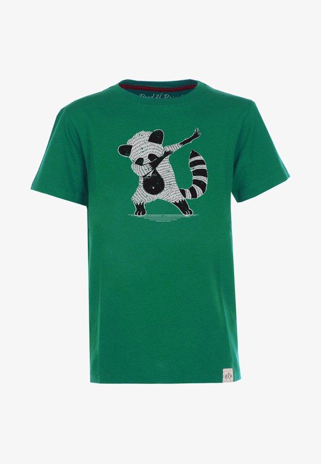 T-shirt med print - dark-green