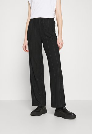 JDYBINA WIDE LOUNGE PANT - Trousers - black