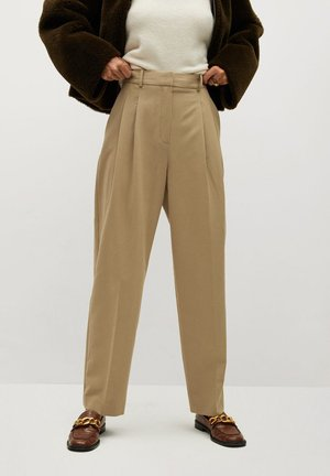 ISABEL - Trousers - marron moyen