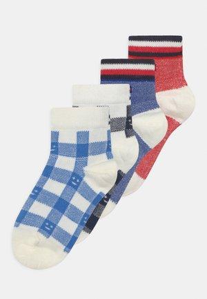 PLAID CHECK 4 PACK UNISEX - Socks - blue
