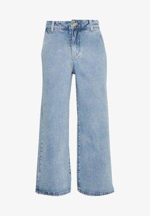OBJMARINA DENIM  - Flared jeans - light blue denim