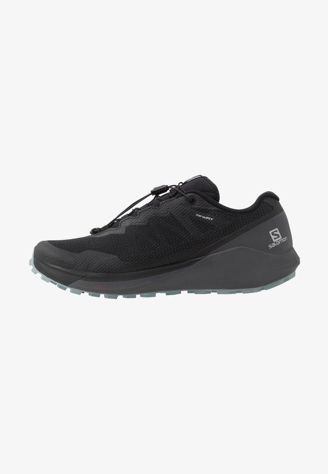 SENSE RIDE 3 - Trail running shoes - black/ebony/lead