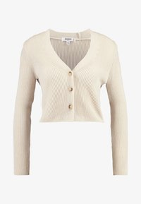 Missguided Petite - SKINNY CROPPED CARDIGAN - Cardigan - beige - 4