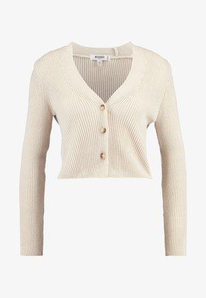 SKINNY CROPPED CARDIGAN - Cardigan - beige
