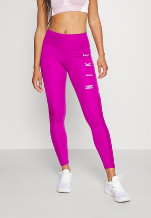 RUN EPIC FAST - Collant - red plum/reflective silve