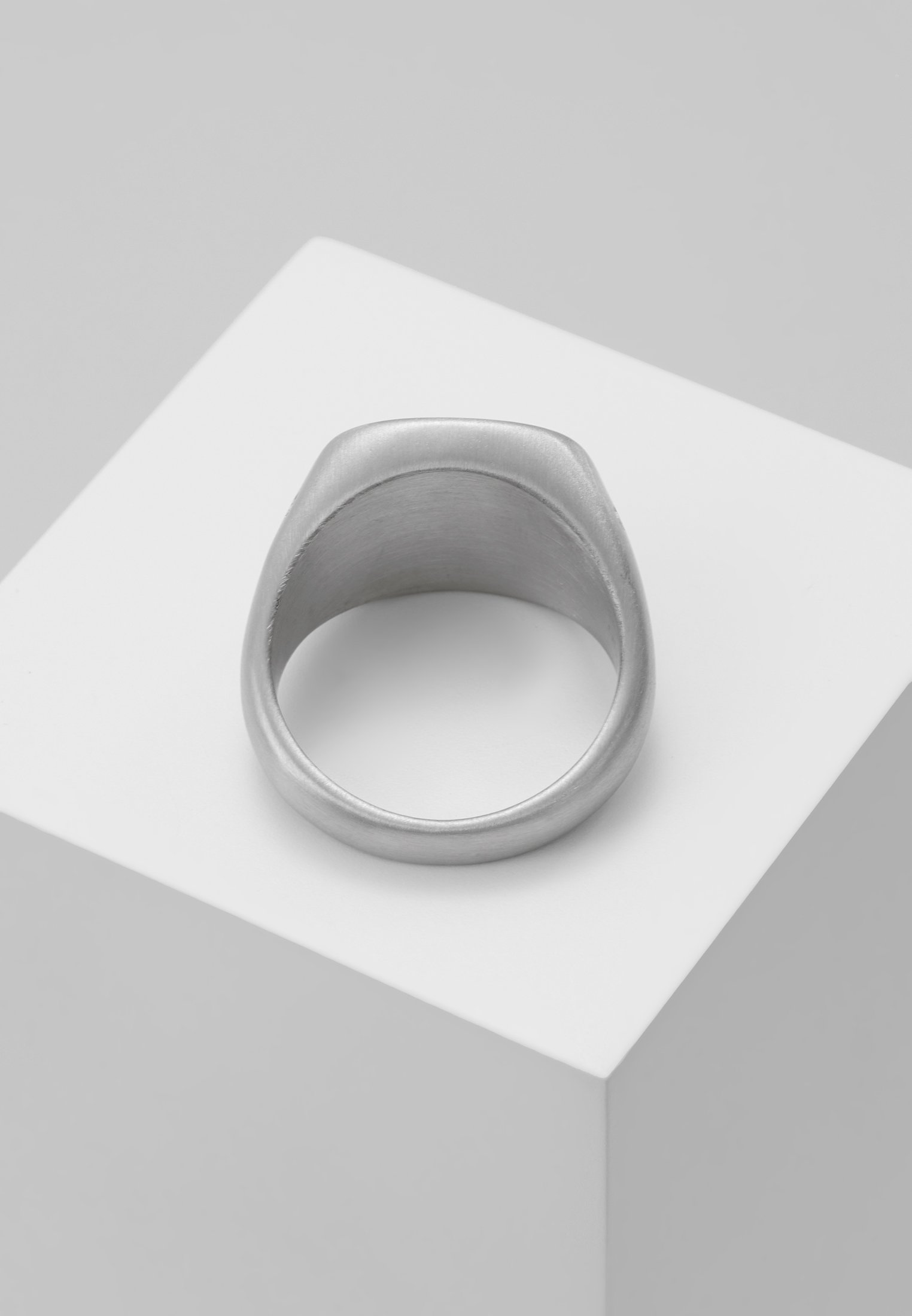 Homme SQUARED BLACK STONE RING  - Bague