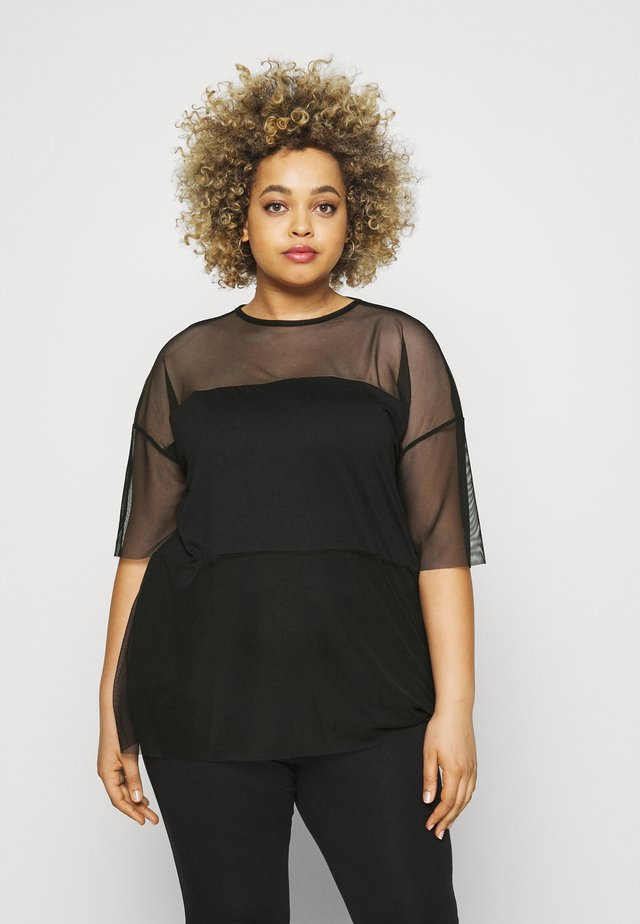 OVERSIZED - T-shirt con stampa - black
