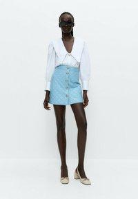 Uterqüe - A-line skirt - light blue - 1