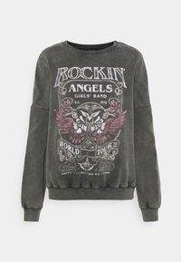 Printed Oversized Sweatshirt - Sweatshirt - grey