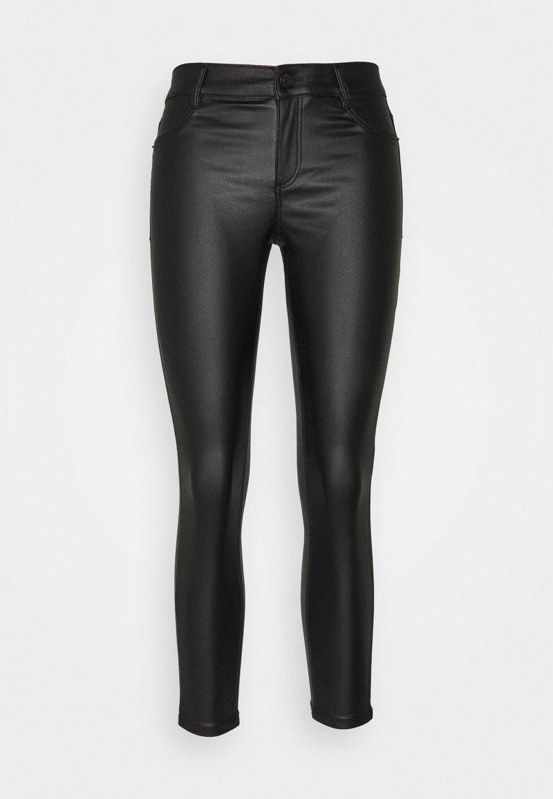 Dorothy Perkins Petite - COATED FRANKIE - Jeans Skinny Fit - black