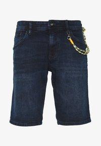 TOM TAILOR DENIM - REGULAR FIT - Shorts vaqueros - blue/black denim - 4