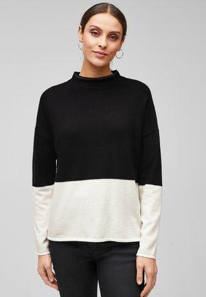 MIT COLOUR BLOCKING - Trui - black knit