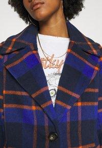 ONLY - ONLTAYLOR CHECK WOOL COAT OTW - Classic coat - sodalite blue/scarlet ibis - 3