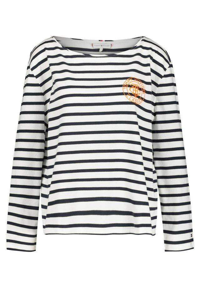 Pitkähihainen paita - marine/weiß (943)