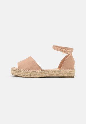 KAIRA - Platform sandals - nude