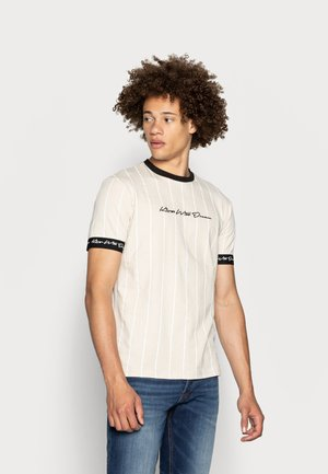 CLIFTON - T-shirt con stampa - sand /white