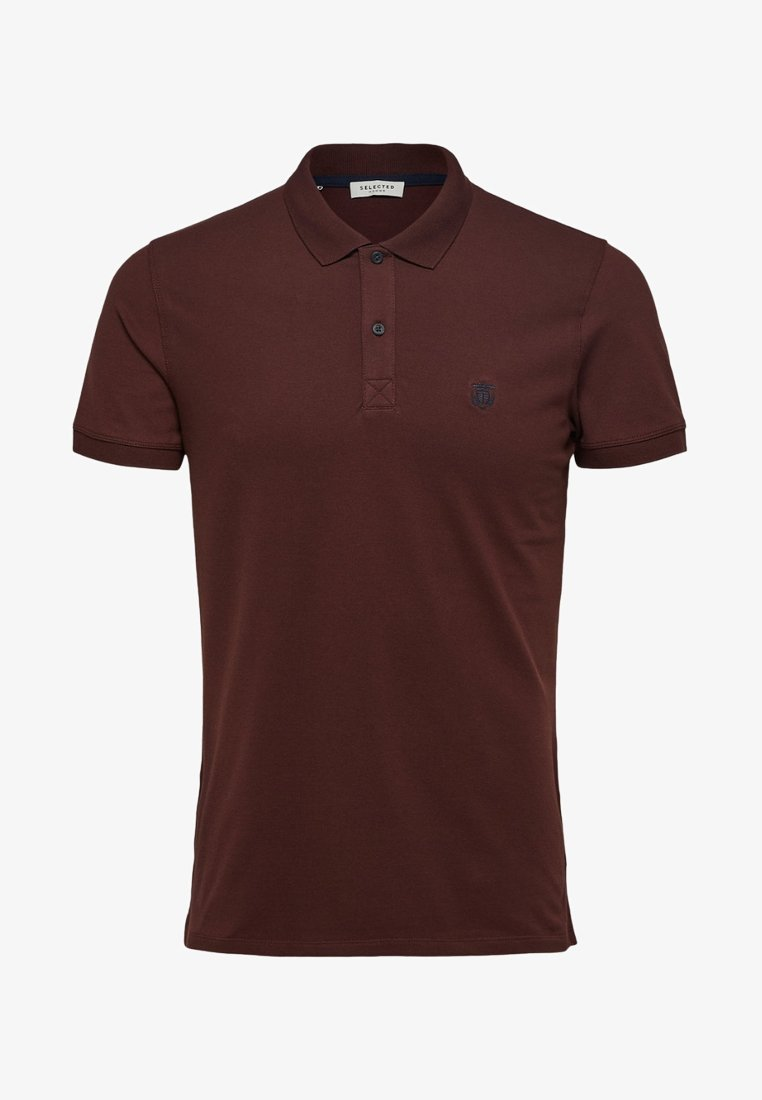 Selected Homme - SLHARO EMBROIDERY - Polo shirt - brown