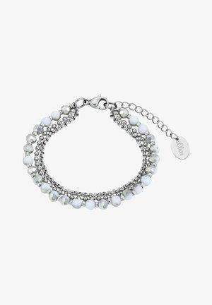MIT GLASSTEINEN - Armband - silber