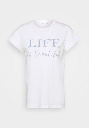 LIFE IT BEAUTIFUL - Print T-shirt - white