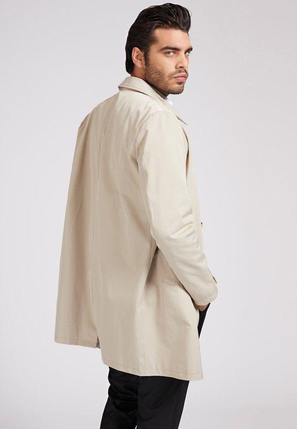 Guess KrÓtki płaszcz - beige/beżowy Odzież Męska SHOF