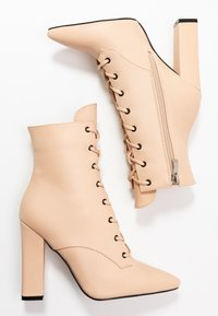 RAID - RAVEN - High heeled ankle boots - beige - 3