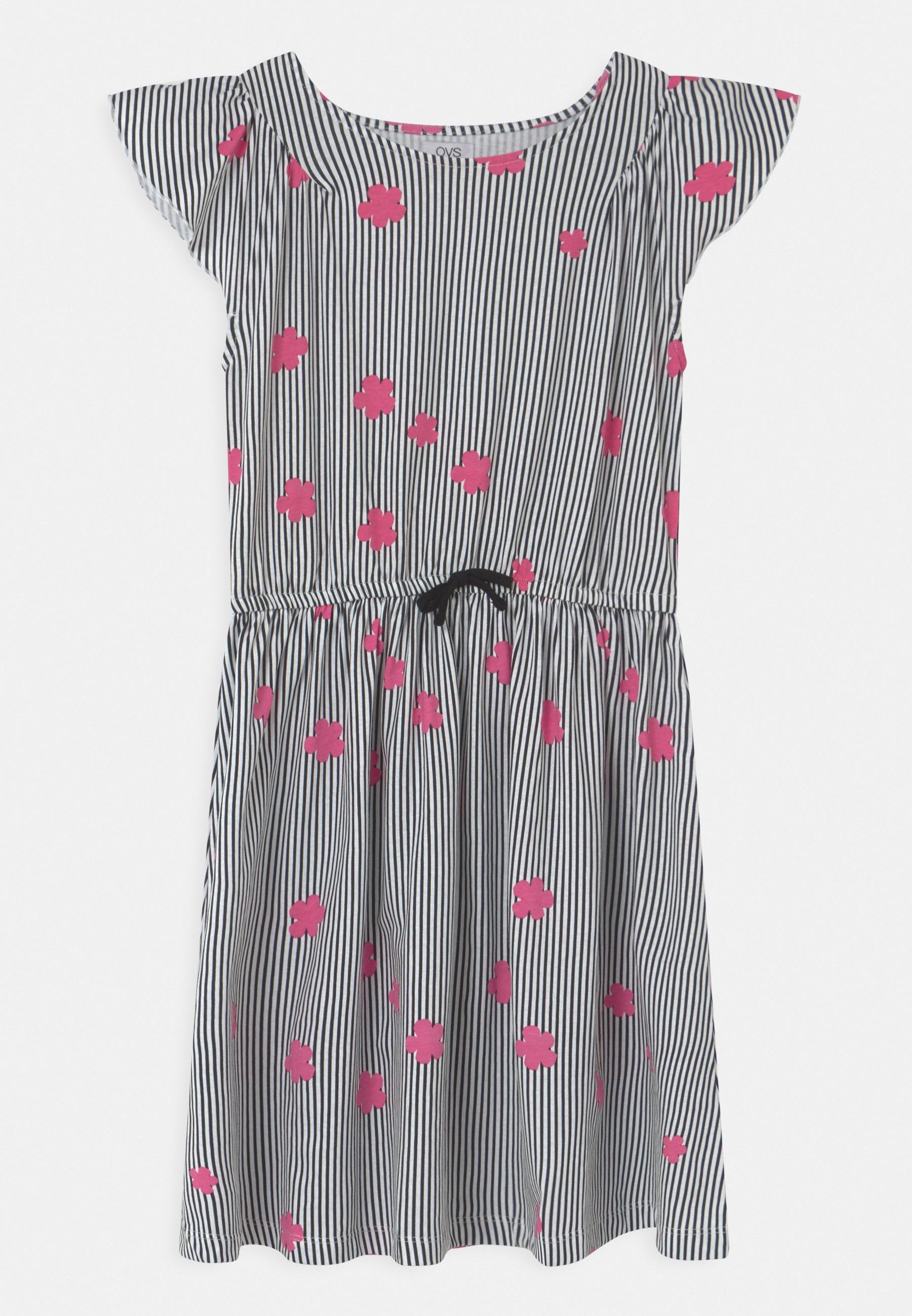 Kids DRESS WITH STRIPES - Jersey dress