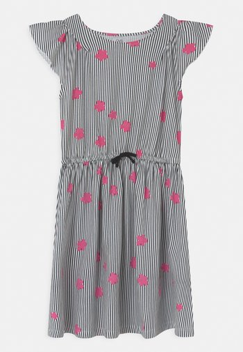 DRESS WITH STRIPES - Jersey dress - black beauty