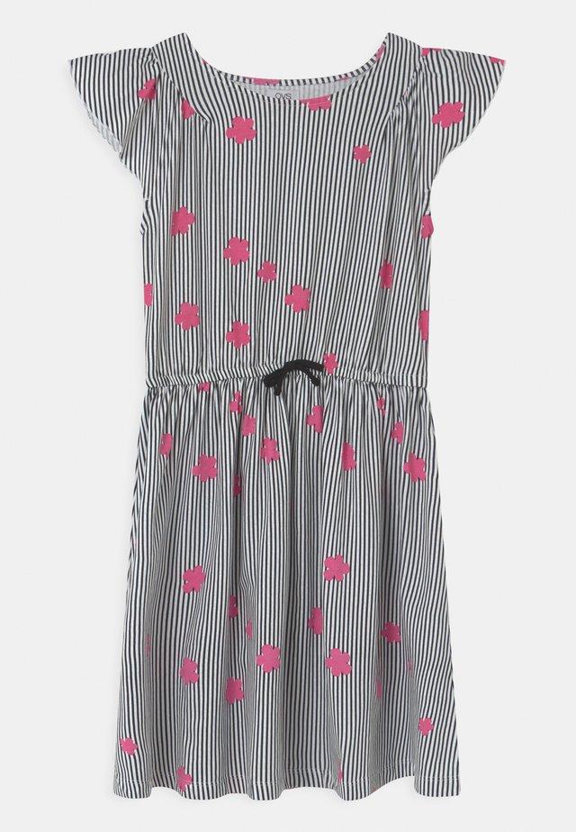 DRESS WITH STRIPES - Vestito di maglina - black beauty