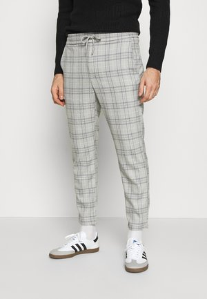 ONSLINUS CROPPED  CHECK PANT - Tygbyxor - medium grey melange