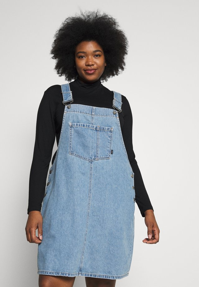 EIR DUNGAREE - Denim dress - day shift blue