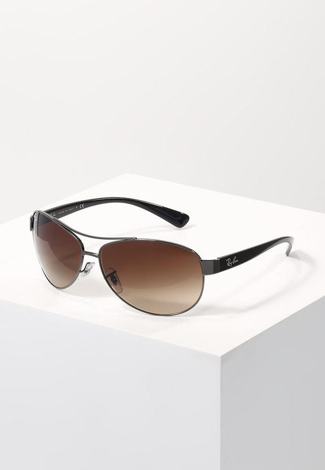 Sunglasses - gunmetal/brown gradient