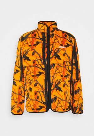 BEAUFORT JACKET - Fleece jacket - orange/grey