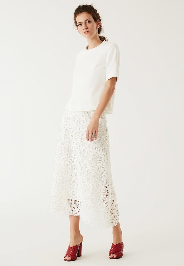 GRAPHIC SKIRT - Maxinederdele - snow white