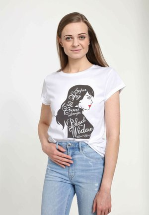 MARVEL WOMEN'S SUPER SPY  - Print T-shirt - white