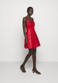 Pinko - CREATIVO ABITO SIMILPELLE - Day dress - red - 0
