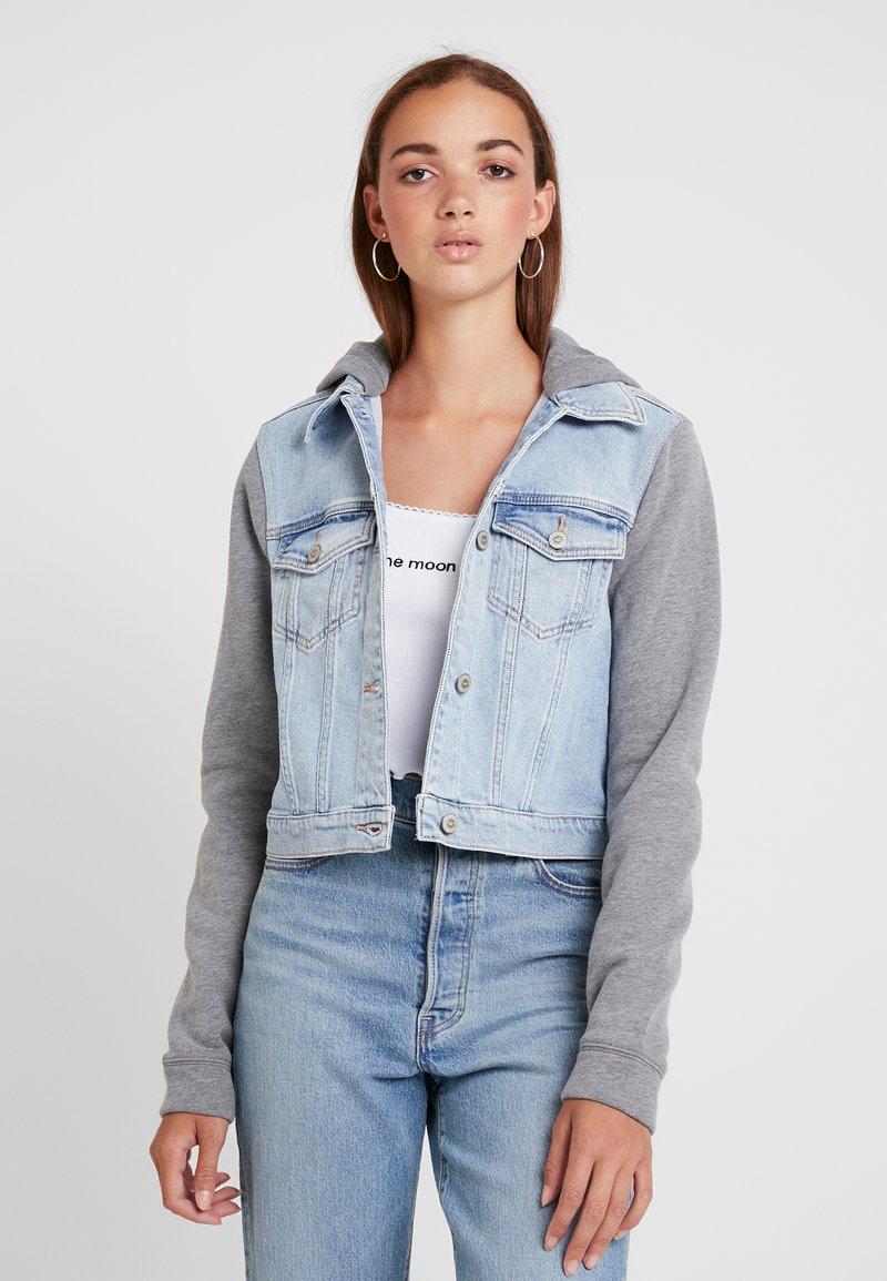 Hollister Co. - TWOFER JACKET - Denim jacket - blue denim