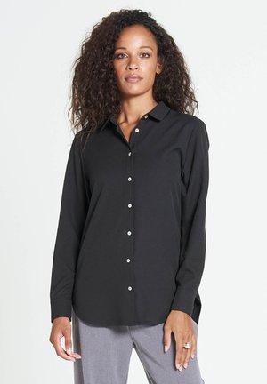 ADRIENNE MAROCAIN - Button-down blouse - black