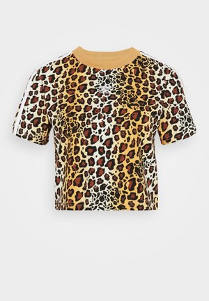 LEOPARD CROPPED TEE - T-shirt med print - multco/mesa