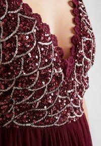 Lace & Beads - ANNALIA MIDI - Cocktailkjole - burgundy - 4