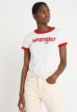 RINGER TEE - Print T-shirt - offwhite