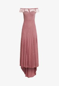 Maya Deluxe - EMBELLISHED BARDOT SPOT DRESS WITH CLUSTER SEQUINS - Occasion wear - rose pink - 5
